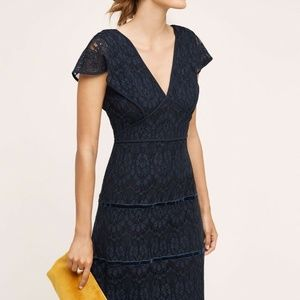 Clarinda Dress Foxiedox Lace Navy